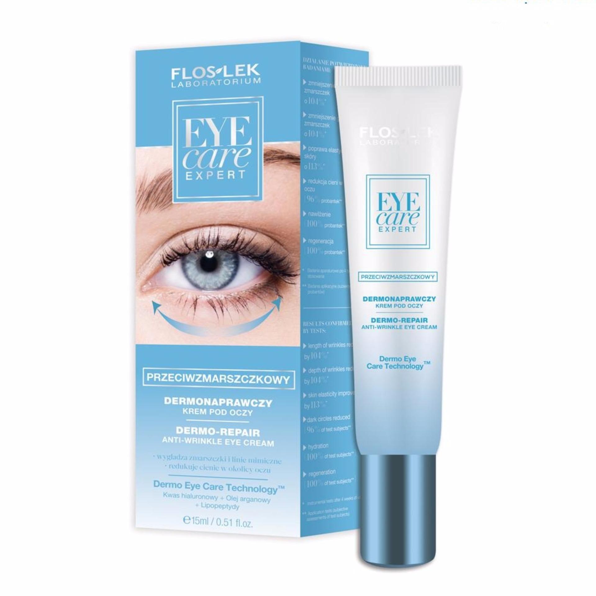Kem trẻ hóa và chống nhăn da vùng mắt – Eye Care Expert Dermo repair anti wrinkle eye cream 15ml