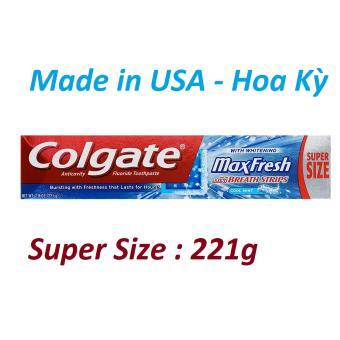 Kem đánh răng Colgate Mỹ Max Fresh làm trắng răng 221g