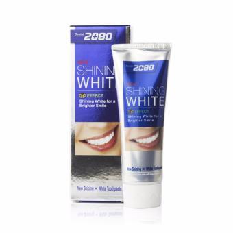 Kem đánh răng tẩy sạch vết ố trên răng 2080 Shining White 3D Effect Hàn Quốc 100g - Hàng Chính Hãng