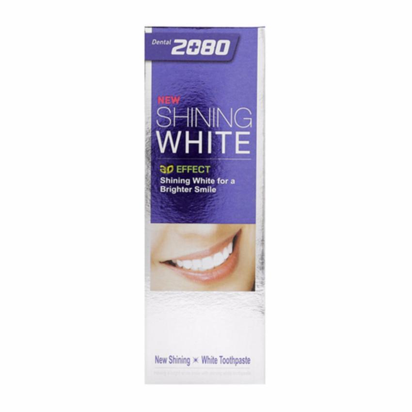 Hình ảnh Kem đánh răng tẩy sạch vết ố trên răng 2080 Shining White 3D Effect Hàn Quốc 100g - Hàng Chính Hãng