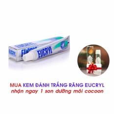 Kem Đánh Trắng Răng Eucryl Toothpaste 50g Tặng 1 son dưỡng Cocoon