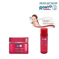 Kem dưỡng chuyên biệt chống lão hóa Hada Labo Pro Anti Aging Cream 50g – Tặng 1 Dung dịch dưỡng Hada Labo Pro Anti-Aging 40ml