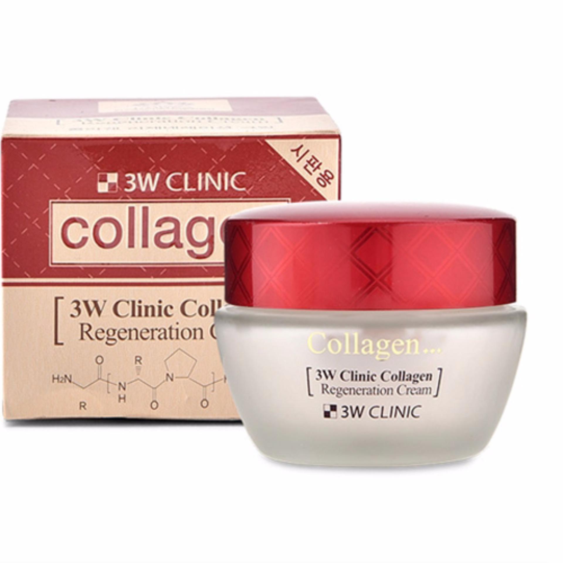 Kem Dưỡng Trắng Sáng Tái Tạo Da 3W Clinic Collagen Regeneration Cream 60ml