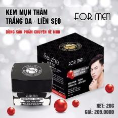 Kem Mụn Thâm – Trắng da – Liền Sẹo For MEN dưỡng chất Ngọc Trai Đỏ và Collagen SAIEHO (20g)