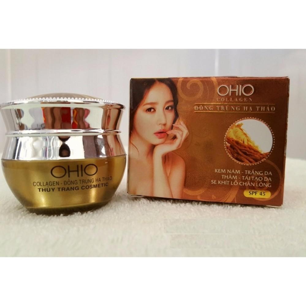 Kem Nám – Trắng Da – Thâm – Tái Tạo – Se Khít Lỗ Chân Lông OHIO Collagen – Đông Trùng Hạ Thảo (20g)