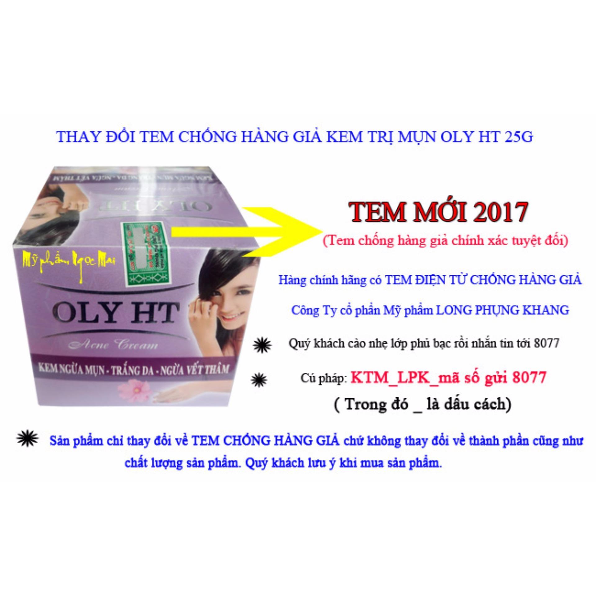 Kem Ngừa Mụn - Trắng Da - Ngừa Vết Thâm OLY HT (25g)
