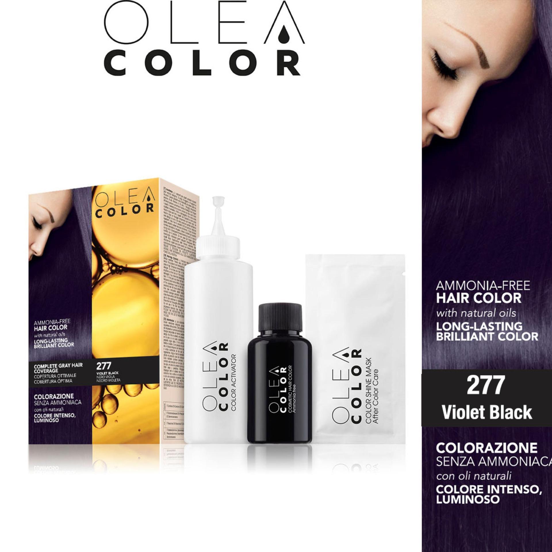 Kem nhuộm dưỡng tóc không Amoniac Olea Color ITALY màu 277 Violet Black