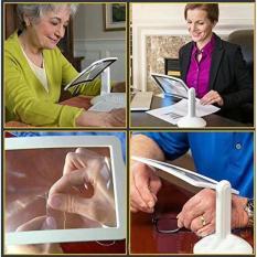 Kính lúp hỗ trợ đọc sách, sâu kim… xoay 180 độ cho người lớn tuổi – sử dụng đèn Led Brighter Viewer LED