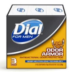Lốc xà bông cục Dial For Men Odor Armor 113gx3 cục