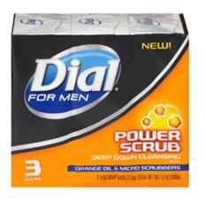 Lốc Xà Bông Dial For Men Soap Bar Power Scrub