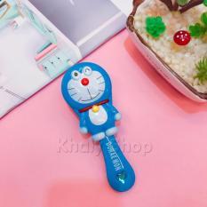 Lược chải tóc hình Doraemon màu xanh dành cho các bạn nữ , bạn gái – 60DO002 (5.5x3x14cm)