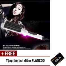 Lược chải uốn tóc Nova 4661 (Trắng) + Tặng kèm thẻ tích điểm Flancoo