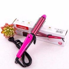Lược điện tạo kiểu tóc 3 in 1 cao cấp màu hồng-BBVL,nova 8890