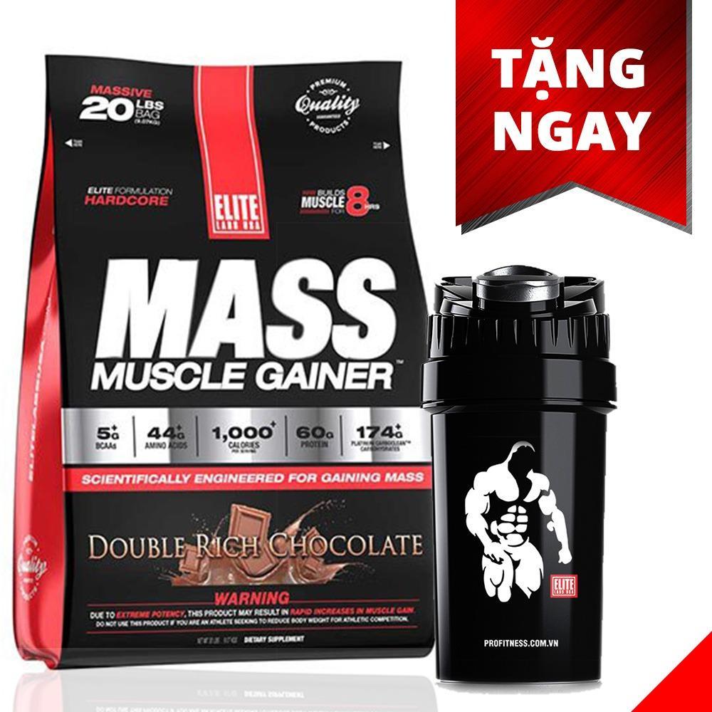 Sữa tăng cân tăng cơ vị socola Mass Muscle Gainer, 20 lb/9.09 kg Chocolate