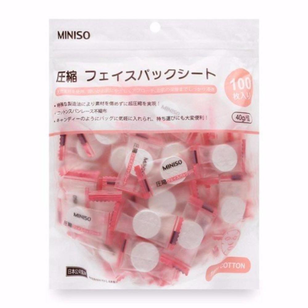 Gói 100 viên Mặt nạ giấy nén Miniso