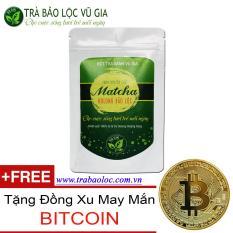 Matcha Bảo Lộc Vũ Gia 100g ( dạng túi) + Tặng Đồng Xu BITCOIN May Mắn