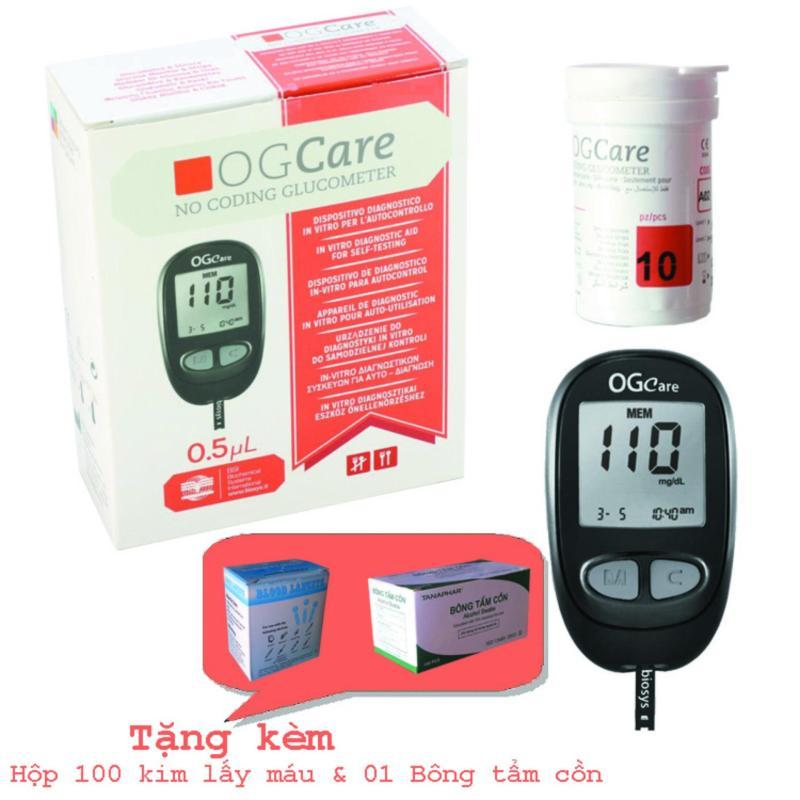 Nơi bán Máy đo đường huyết OGCare tự động nhận mã que