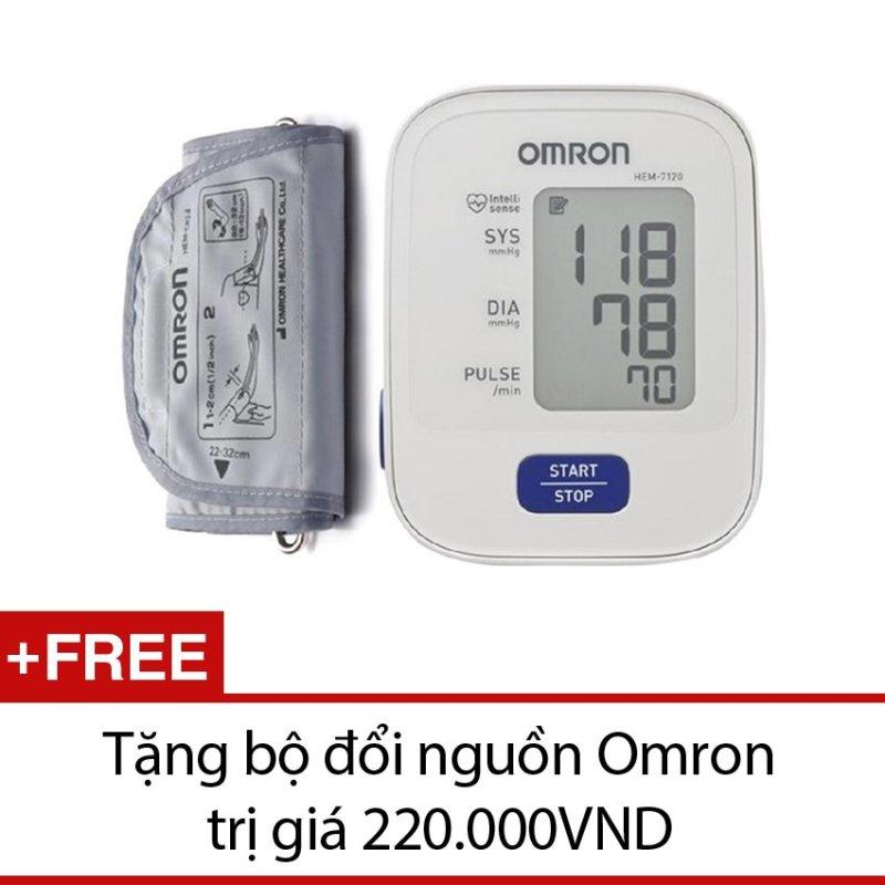 Nơi bán Máy Đo Huyết Áp Bắp Tay Omron Hem-7120 + Tặng Bộ Đổi Nguồn Và Nhiệt Kế Điện Tử Gia Đình ( TBYT Cộng Đồng )