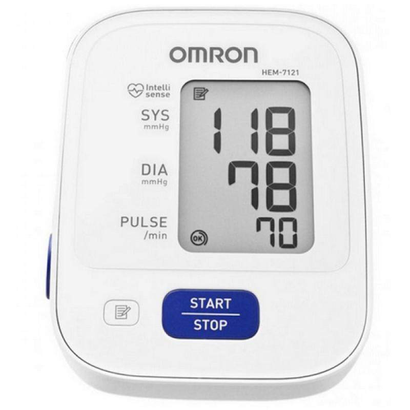Nơi bán Máy đo huyết áp bắp tay Omron HEM 7121 (Trắng) + Tặng dụng cụ ráy tai có đèn