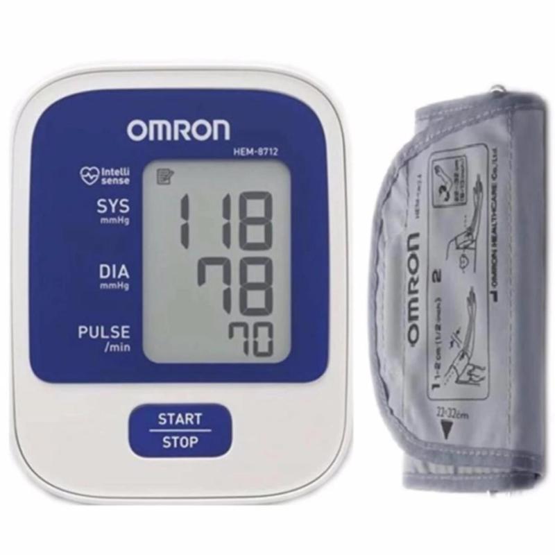 Nơi bán Máy đo huyết áp bắp tay Omron HEM-8712 (Trắng) + BẢO HÀNH 5 NĂM