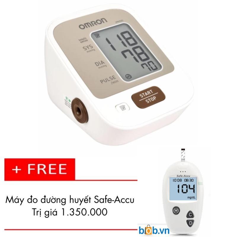 Nơi bán Máy đo huyết áp bắp tay Omron JPN500 + Tặng Máy đo đường huyết Safe-Accu