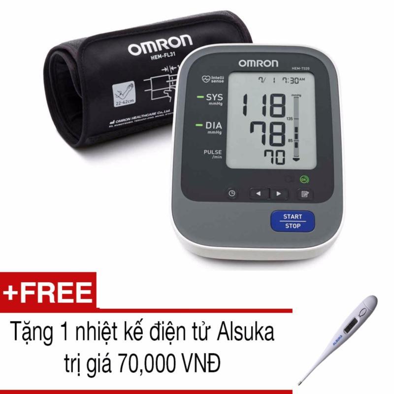 Nơi bán Máy đo huyết áp bắp tay tự động Omron HEM-7320 +Tặng 1 nhiệt kế Alsuka