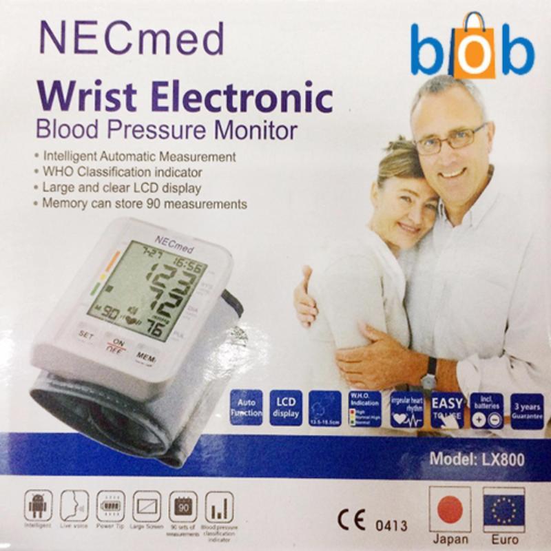 Nơi bán Máy đo huyết áp cổ tay Necmed LX-800