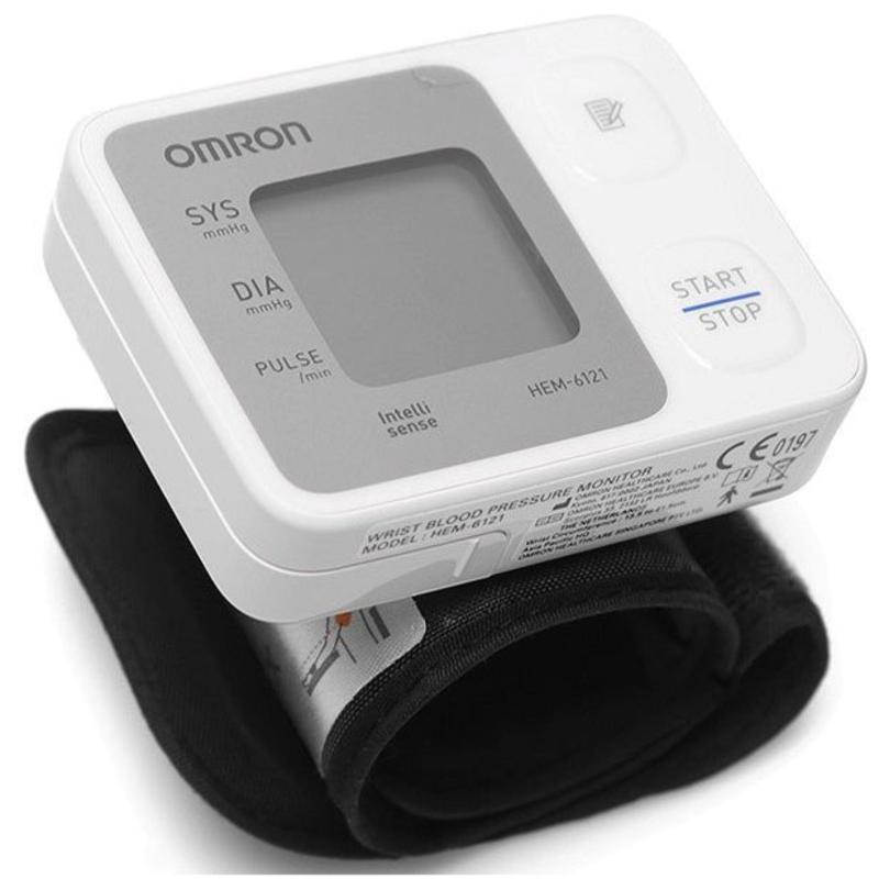 Nơi bán Máy đo huyết áp cổ tay Omron HEM-6121 + Tặng nhiệt kế điện tử Omron