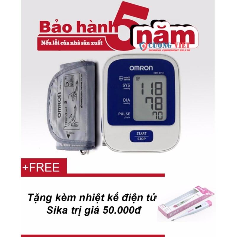 Nơi bán Máy đo huyết áp Omron HEM-8712 + Tặng kèm nhiệt kế điện tử Sika