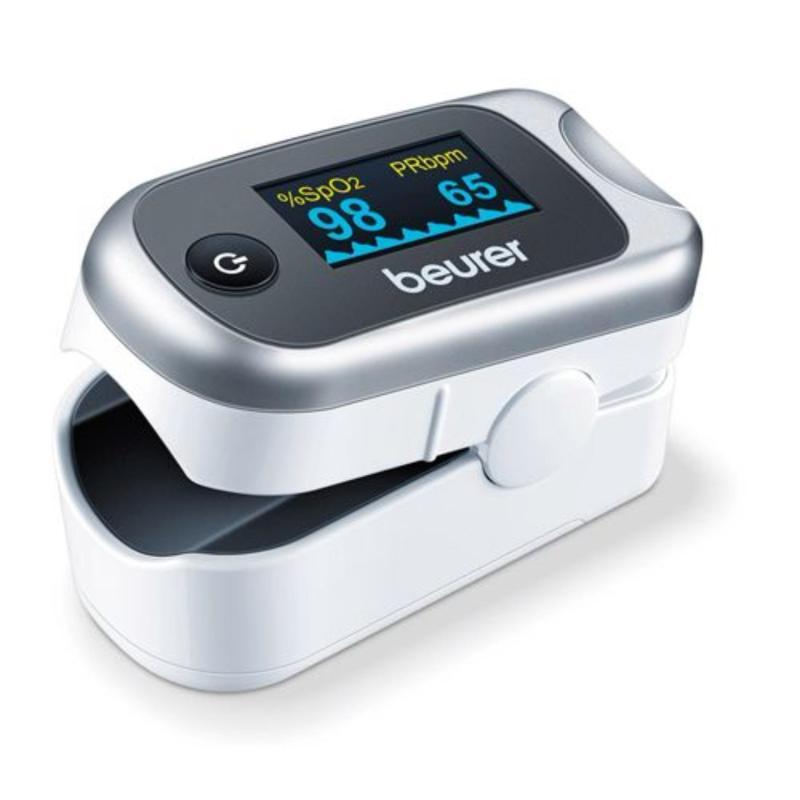 Máy đo nồng độ oxy trong máu SpO2 và nhịp tim Beurer PO40 (Bạc) bán chạy