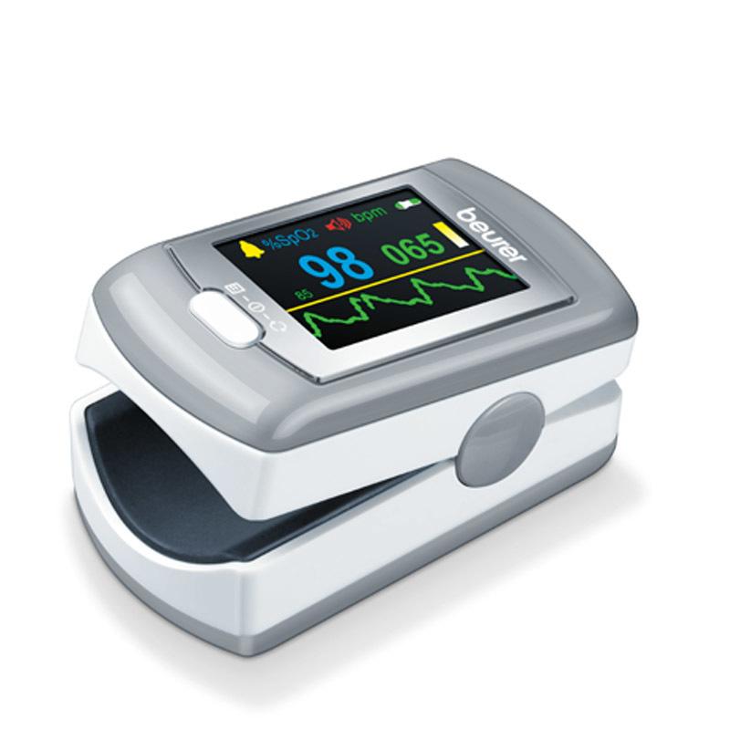 Nơi bán Máy đo nồng độ oxy trong máu và nhịp tim cá nhân pin sạc kết nối USB Beurer PO80