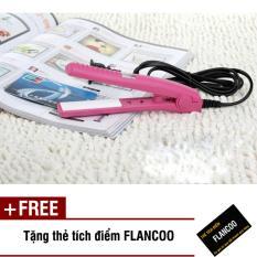 Máy duỗi tóc mini 0191 (Hồng) + Tặng kèm thẻ tích điểm Flancoo