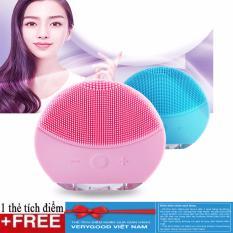 Máy massage rửa mặt silicon chất lượng tốt + Tặng Kèm 1 thẻ Verygood