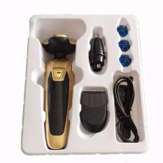 Máy Vệ Sinh Cá Nhân Đa Năng 3 Trong 1 Cắt Tóc Cạo Râu Tỉa Lông Mũi Đầu Lưỡi Cạo Thông Minh, Dùng Pin Có Cổng Sạc USB Màu Vàng Kim (Loại Tốt)