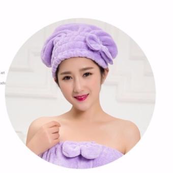 Mũ tóc bảo vệ tóc khi tắm (Tím)
