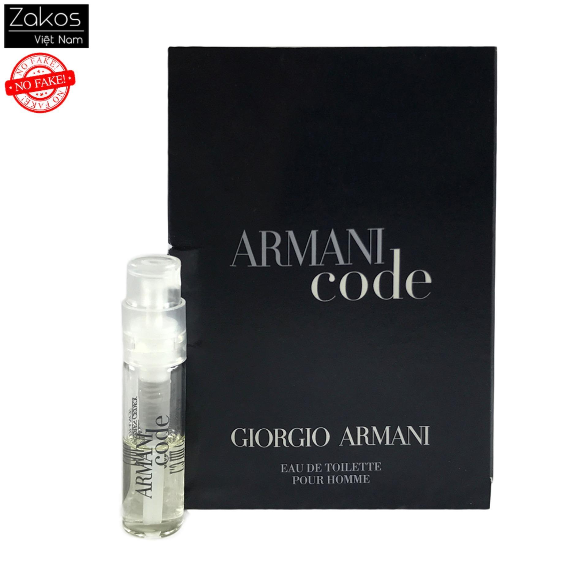 Nước hoa Armani Code for men mẫu thử 1.5ml