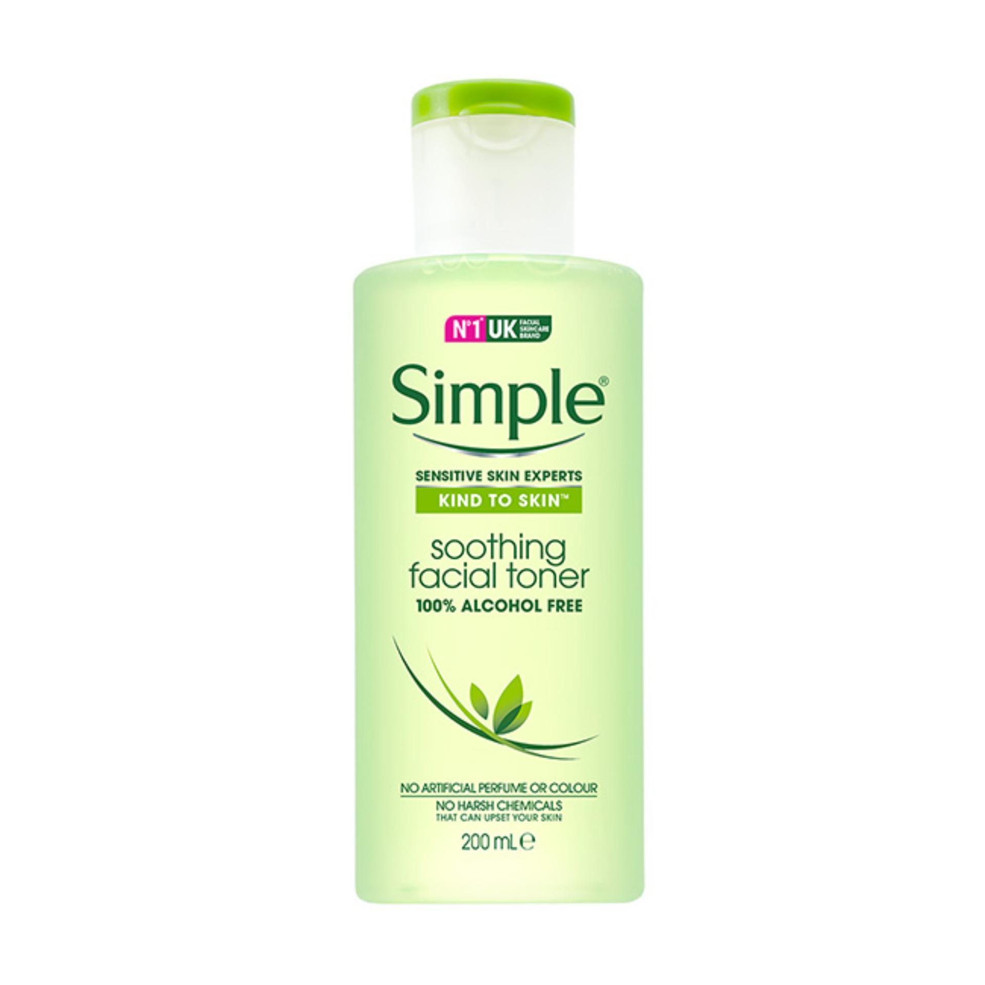 Nước hoa hồng Simple Kind To Skin Soothing Facial Toner 200ml (Mẫu mới 2017)