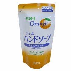 Nước rửa tay hương cam – 190ml (dạng refill)