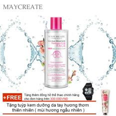 Nước tẩy trang Maycreate 300ml auth + Tặng tuýp kem dưỡng da tay hương thơm thiên nhiên ( Đơn hàng mỹ phẩm trên 300k tặng thêm 1 đồng hồ thể thao như quảng cáo )