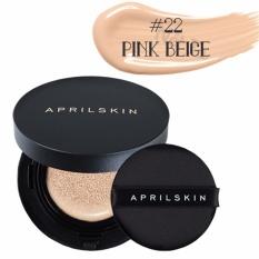 Phấn nước April Skin Magic Snow Cushion 2.0 SPF50+ PA+++ 15g màu 22 Pink Beige – Da sáng hồng