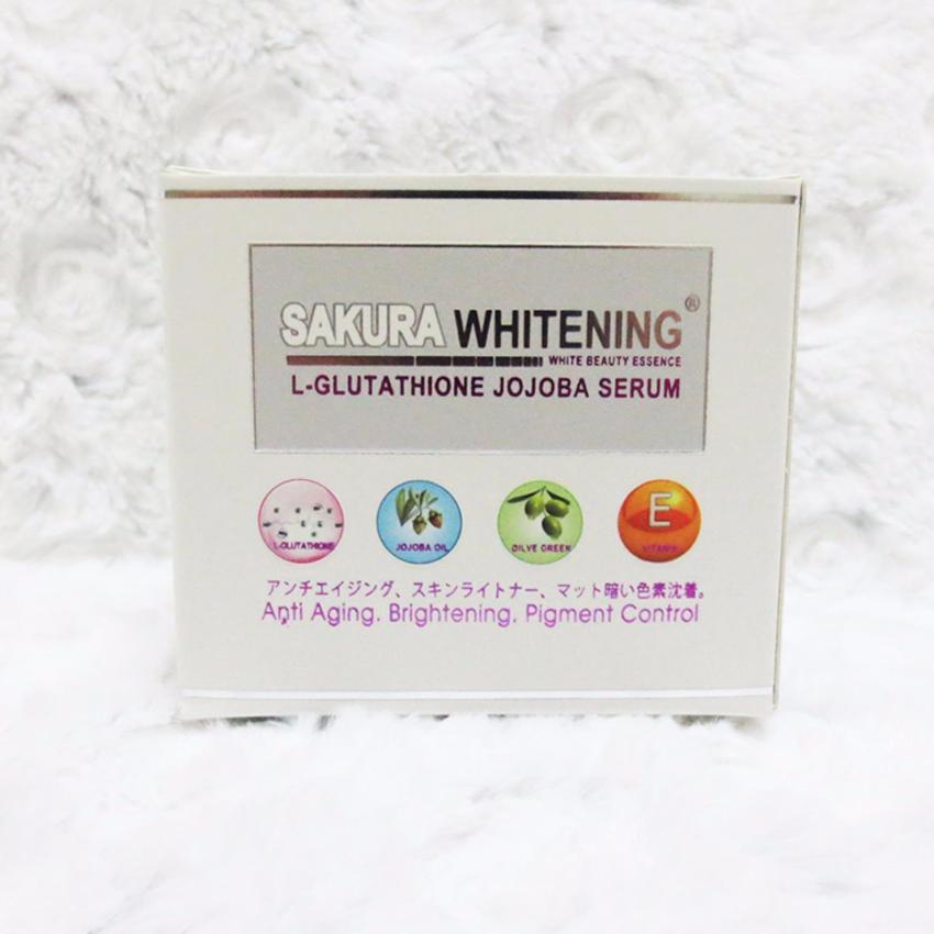 Serum Dưỡng Trắng Da Sakura Whitening Với Tinh Chất Làm Đẹp Từ Thiên Nhiên và Glutathione + Quà Tặng