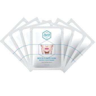 Set 7 Mặt Nạ Avif Biocell Whitening Face Mask Dưỡng Trắng Da 7gói*23g