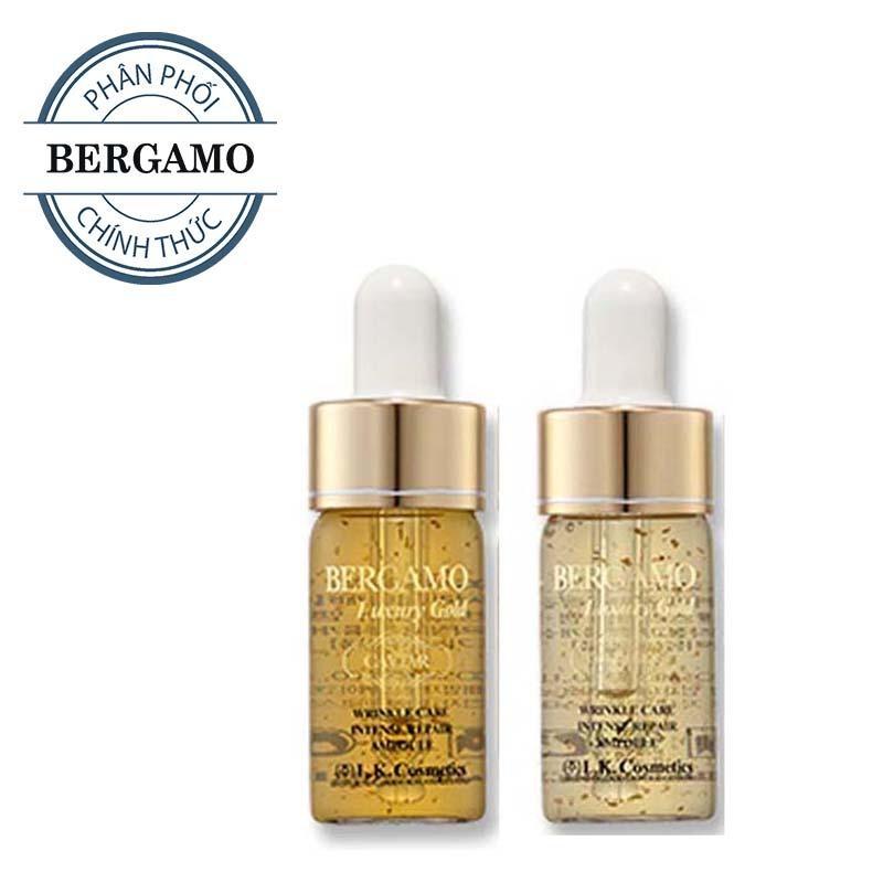 Đánh Giá Set tinh chất trị mụn – dưỡng trắng – tái tạo da Bergamo Luxury Gold Collagen And Caviar 13ml/chai x 2 chai ( HÀNG CHÍNH HÃNG )