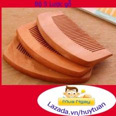 Sỉ 5 Lược chải tóc bằng gỗ chất lượng tốt