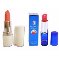 COMBO 1 thỏi son môi lỳ MISTINE ( ĐỎ TƯƠI 01 ) + 1 thỏi son dưỡng môi VITAMIN E