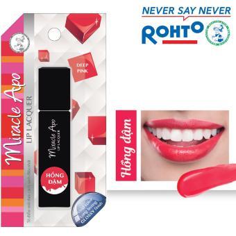 Son kem bóng Miracle Apo Lip Lacquer Deep Pink 3ml (Hồng đậm)