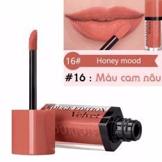 Son kem lì Bourjois Rouge Edition Velvet 7.7ml màu 16 – Honey Mood – Màu cam nâu – Pháp