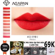 Son lì dạng thỏi Agapan Pit A Pat Matte Lipstick #03 Always + Tặng móc khóa tình yêu trị giá 69K