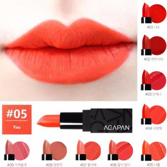 Son môi AGAPAN Orange You #05 Matte Lipstick 3.5g (Cam nhẹ)