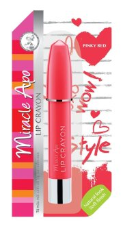 Son sáp bút chì Miracle Apo Lip Crayon Pinky Red 3g (Đỏ hồng)